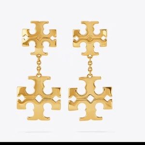 New Tory Burch kira linear earrings